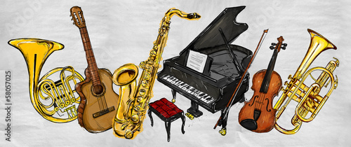 Painting Music Instruments
