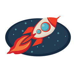 rocket cartoon style