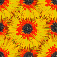 Seamless tropical floral pattern, vector Eps10 image.