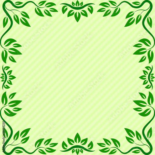 Oriental leaves border