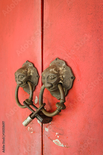 Lion head doorknocker chinese style