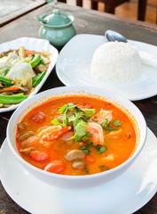 Thai traditional food (Tom Yum Goong)