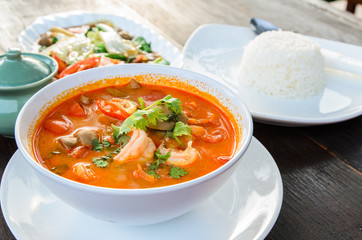 Thai traditional food (Tom Yum Goong)