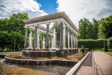 Ancient fountain in Saint Petersburg