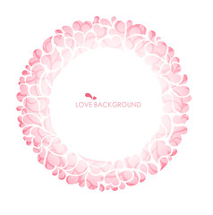 Abstract love and on circle background & curve background