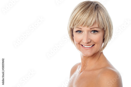 Attractive middle aged bared woman