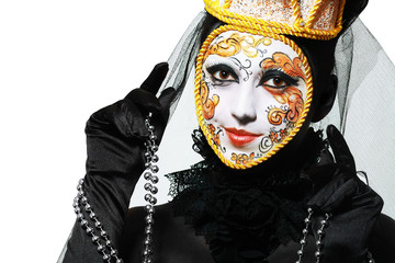 Venetian mask make up