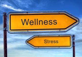 Strassenschild 1 - Wellness