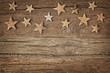 Wooden christmas stars