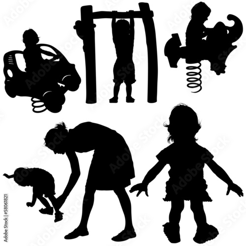 Childrens Play Silhouettes