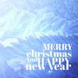 Christmas background pattern on glass - 58062004