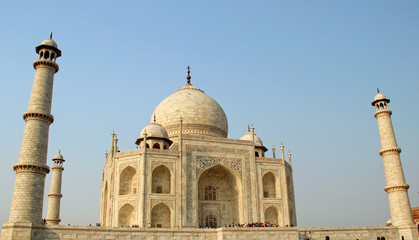 Taj Mahal, Agra, India in evening