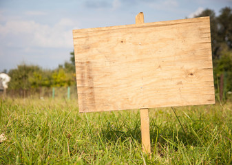 Spring Or Summer Rural Wood Sign