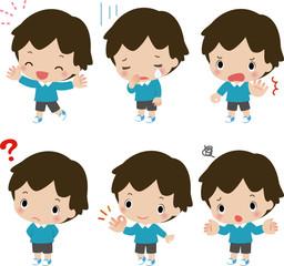 小さな男の子のいろいろな表情