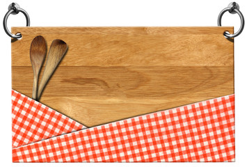 Cutting Board - Signboard with clipping path
