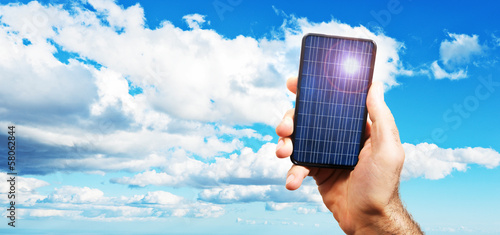 photovoltaic cell exposed to the sun