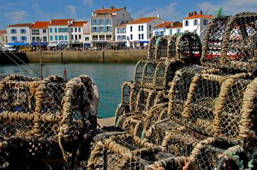 casier de pêche à port Joinville,  l'Île d'Yeu