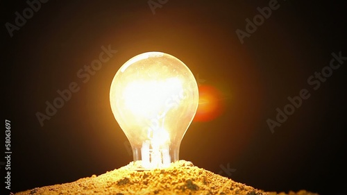 Ecology Energy Conservation Concept Light Bulb