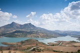 Views of Zahara Reservoir, Cadiz, Andalusia, Spain