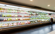 Shelf with fruits in supermarket - 58064010