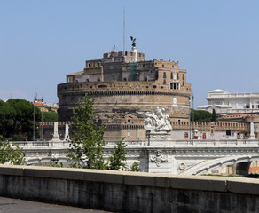 Castel Sant'Angelo in Rome, the old tomb of Emperor Aurelius