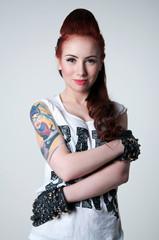 Beautiful rocker girl