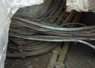 telephone cables and optical fibers for communication in undergr