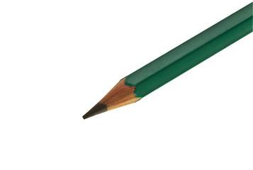 Хорошо заточенный карандаш на белом