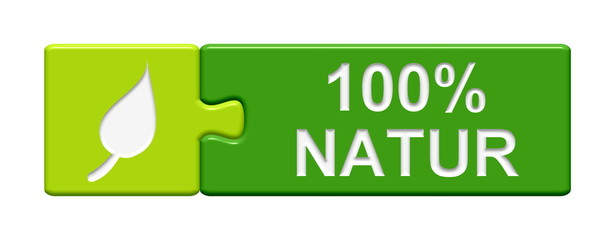 Puzzle-Button grün: 100% Natur