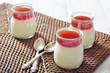 Dessert panna cotta with strawberry