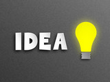IDEA with Light Bulb (innovation solutions ideas design)