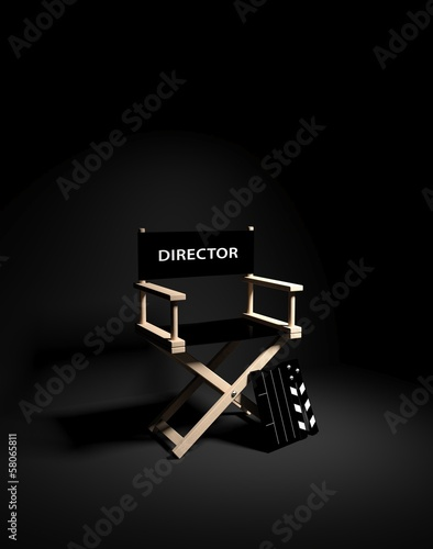 Directors chair with clapboard