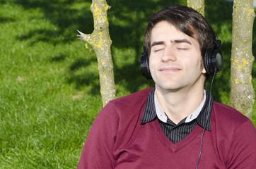 musikhören in der natur