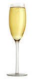 Aa glass of champagne isolated on a white background