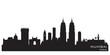 Mumbai India city skyline vector silhouette