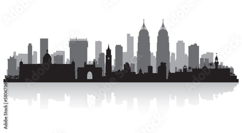 Mumbai India city skyline silhouette