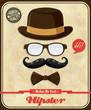 Vintage Hipster poster design