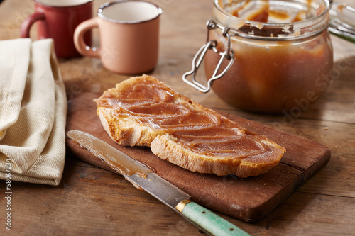 Toast with creme de marrons