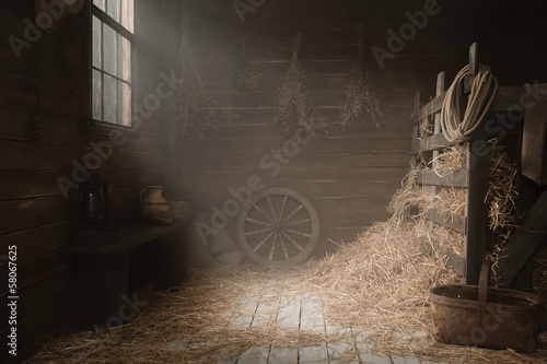 Scenery in the village barn studio - 58067625