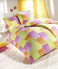 Bettwäsche grün/violett