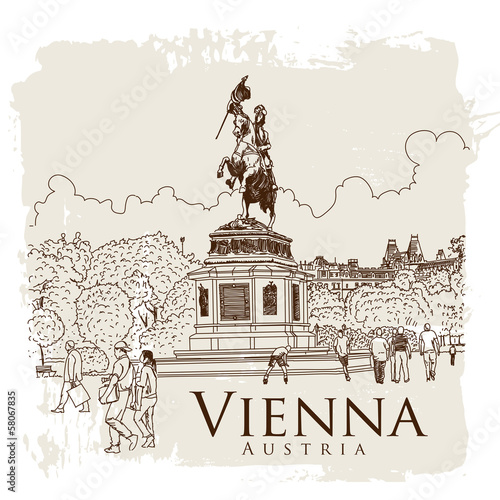 Vienna, Austria. Vector drawing.