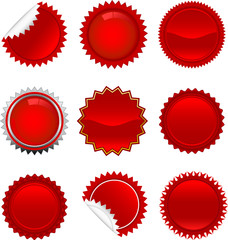 red starbursts set