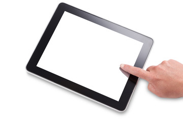 Using a touchscreen tablet