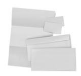 business stationary set. envelope, sheet of paper and business c