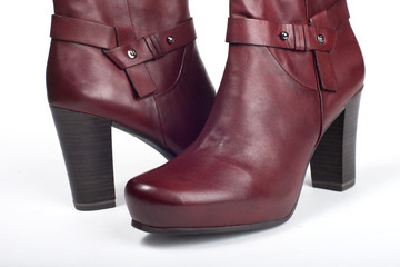 Red female boots