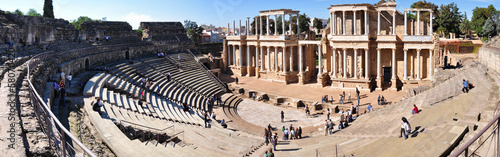 The Roman Theatre (Teatro Romano) in Merida, Spain.