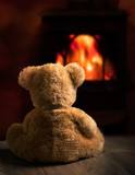 Teddy By The Fire