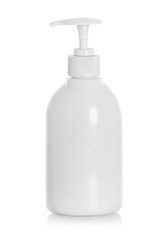 White tube bottle of shampoo, conditioner, hair rinse