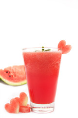 Smoothie watermelon with slice water melon