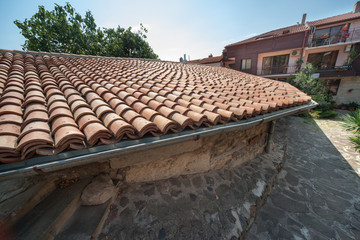 The traditional Bulgarian stone roof